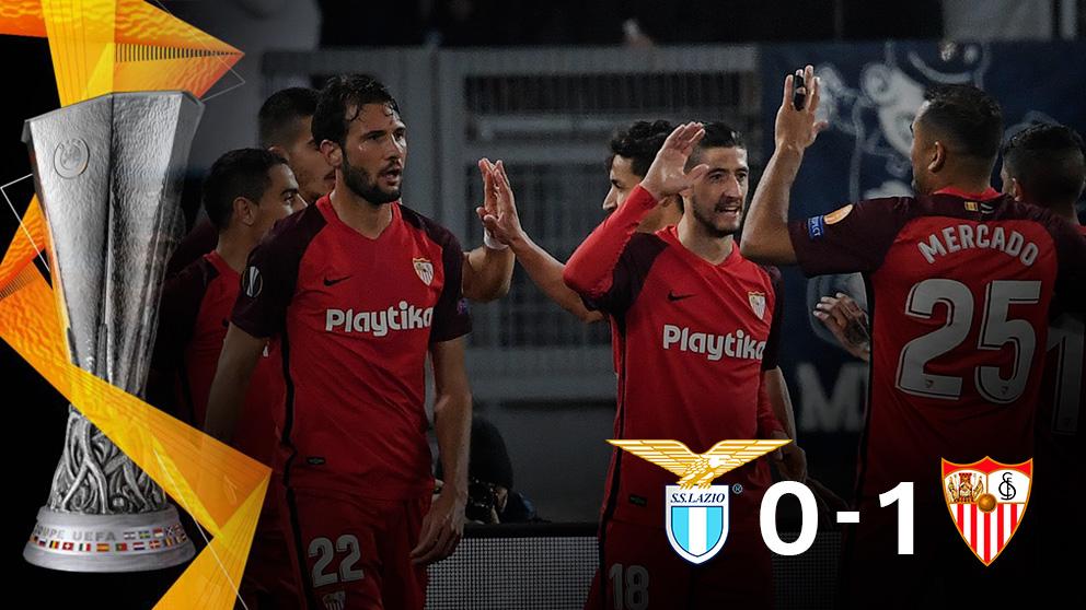 El Sevilla venció al Lazio en Roma.