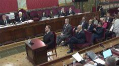 Oriol Junqueras declarando en el Tribunal Supremo.