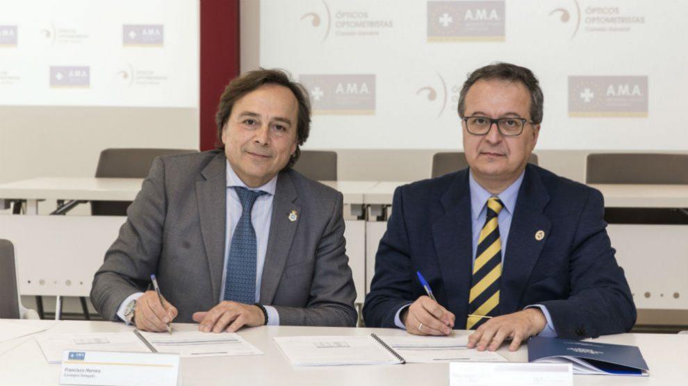 AMA Vida firma la póliza colectiva de Vida con el Colegio de Ópticos-Optometristas de la Comunidad Valenciana (Foto: AMA)