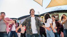 Imágenes del videoclip de 'La venda' que Miki graba estos días en San Cugat (Barcelona) para representar a España en Eurovisión 2019.