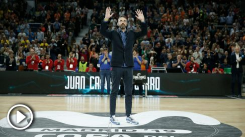 Juan Carlos Navarro, homenajeado en Madrid.