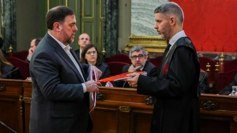 Oriol Junqueras durante el juicio en el Tribunal Supremo (Foto: Europa Press).