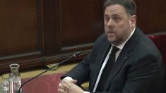 El ex vicepresidente de la GEneralitat, Oriol Junqueras, durante su declaración como acusado en el juicio al 'procés'. Foto: Twitter
