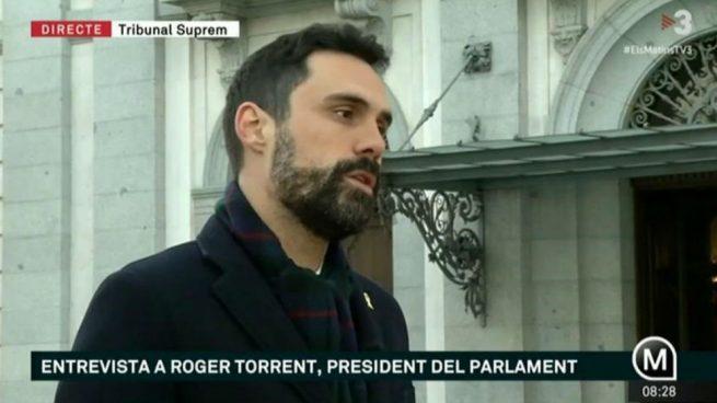 Torrent asegura: la declaración de Junqueras se leerá «en los libros del futuro»