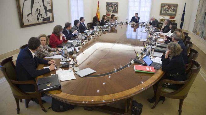 El jefe del Gobierno en funciones, Pedro Sánchez, presidiendo una reunión del Consejo de Ministros. (Foto: Moncloa)