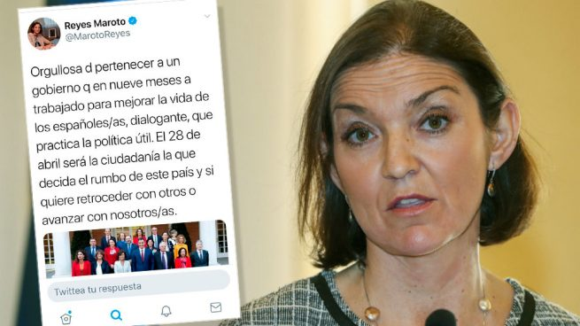 La ministra Maroto elogia al Gobierno con una estruendosa falta de ortografía: «a trabajado»
