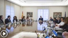 El presidente del Gobierno, Pedro Sánchez, preside la reunión extraordinaria del Consejo de Ministros.