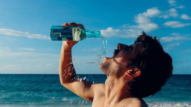 no beber agua