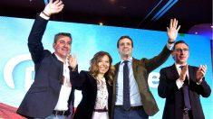 Pablo Casado este sábado en la presentación de la candidata del PP a la Alcaldía de Huesca (Foto: EFE).