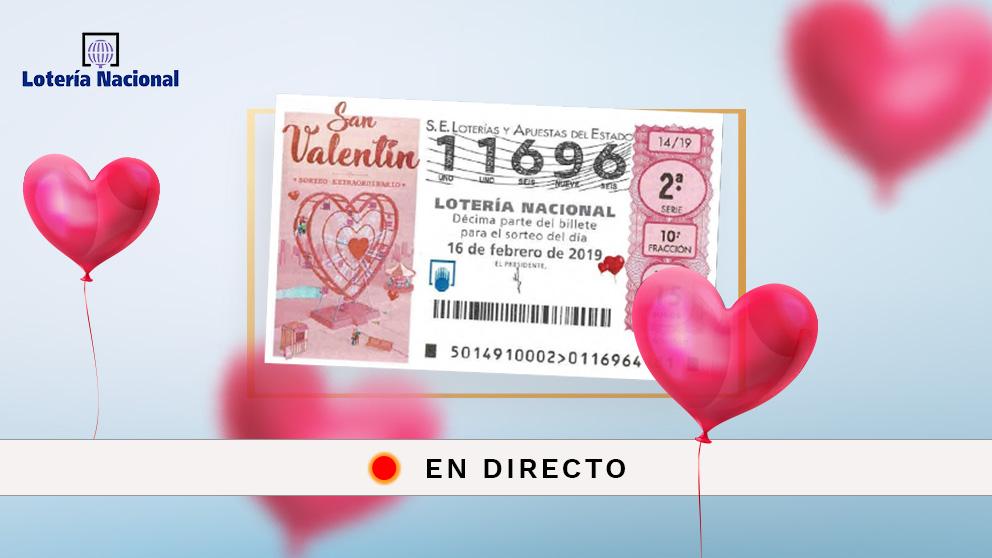 Lotería Nacional Resultado Del Sorteo Extra San Valentín 2019 En Directo