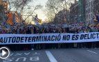 Los independentistas y Podemos salen a la calle en Barcelona para coaccionar a los jueces del Supremo