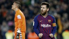 Messi celebra su gol de penalti (EFE)