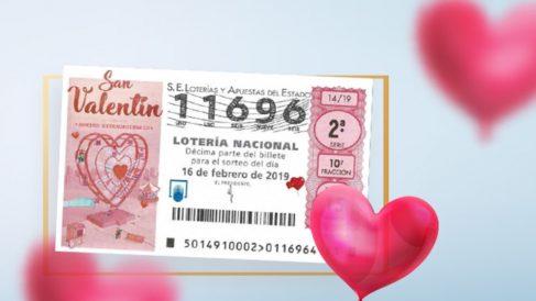 Premio Extraordinario de San Valentín en la Lotería Nacional