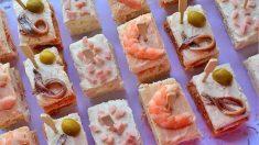 Receta de Aperitivos fríos con pan de molde