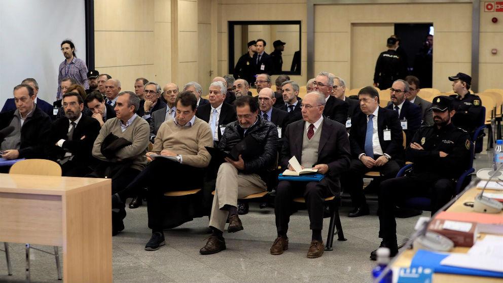 Imagen de los acusados del juicio por la salida a Bolsa de Bankia.