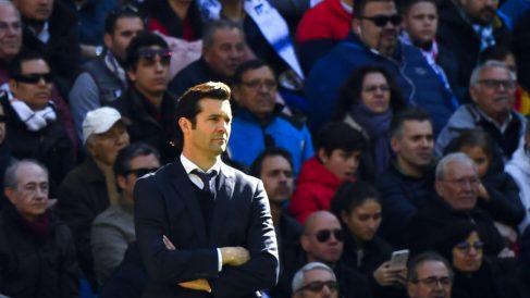 Solari, durante un partido. (AFP)
