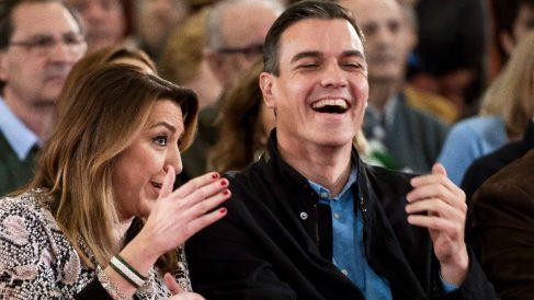 Pedro Sánchez y Susana Díaz, este sábado.