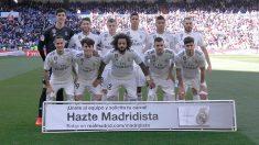 La alineación del Real Madrid contra el Girona.