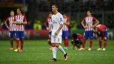 Cristiano, antes de lanzar el penalti decisivo en la final de la Champions 2016. (Getty)