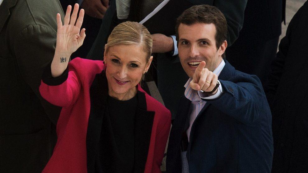 Cristina Cifuentes y Pablo Casado. (Foto. PP)