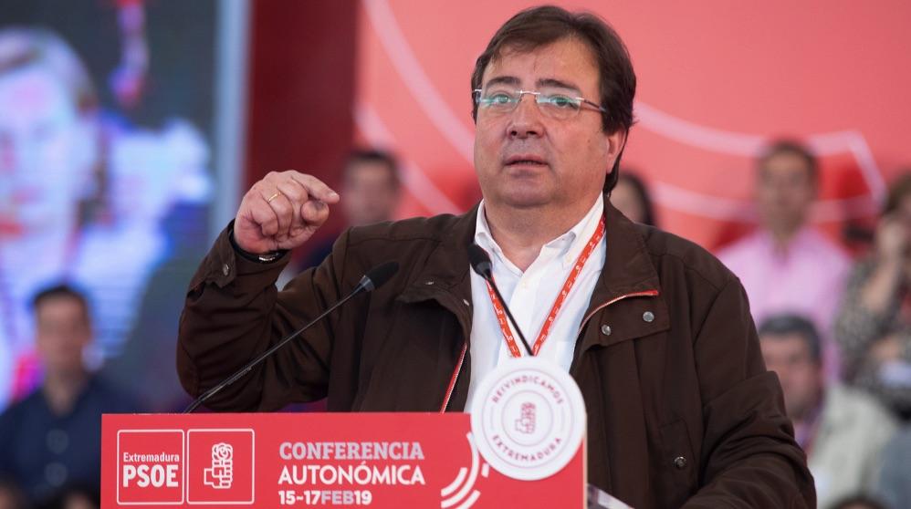 El presidente regional Guillermo Fernández Vara. (Foto. PSOE)