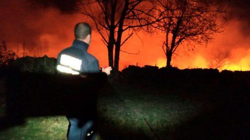 Cantabria registra casi medio centenar de incendios forestales activos, la mayoría provocados. Foto: EFE