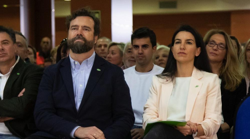 Rocio Monasterio e Iván Espinosa de los Monteros en Torrejón de Ardoz. (Foto. Vox)