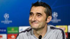 Valverde, en rueda de prensa. (AFP)