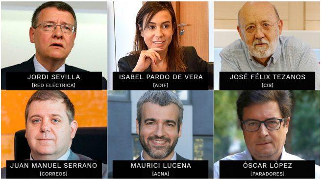 El 28-A deja en el aire el futuro de los 20 presidentes colocados por Sánchez en empresas públicas