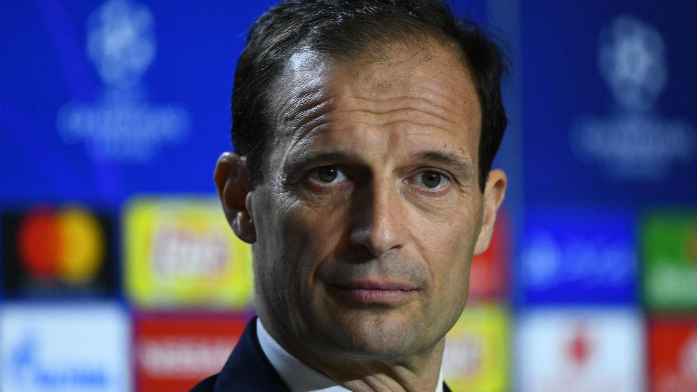 Allegri durante la rueda de prensa previa al Atlético-Juventus. (AFP)