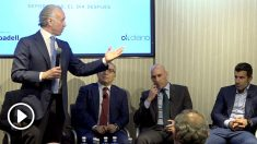 Eduardo Inda, durante la presentación del OKFORO Deportistas, el día después.