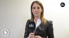 La periodista María Jamardo cubre el juicio del 1-O