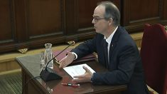 Jordi Turull declarando ante el Tribunal Supremo