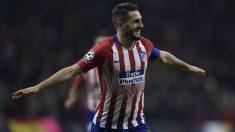 Koke celebra un gol durante el Atlético-Mónaco. (AFP)