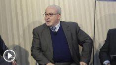 José Luis Mendoza, presiddente de la UCAM, durante el OK Foro Deportistas, El dÍa después, celebrado en el Auditorio del Banco Sabadell