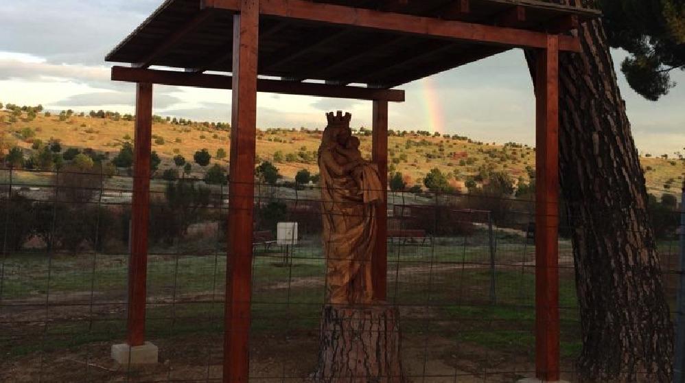 Protección de la Virgen del Abrazo en Valdebebas.