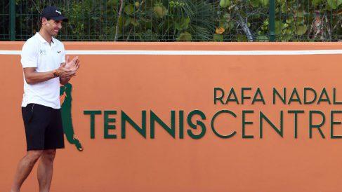 Rafa Nadal durante la inauguración del 'Rafa Nadal Tennis Centre'. (AFP)