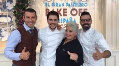 Jesús Vázquez y los miembros del jurado de 'Bake Off España'