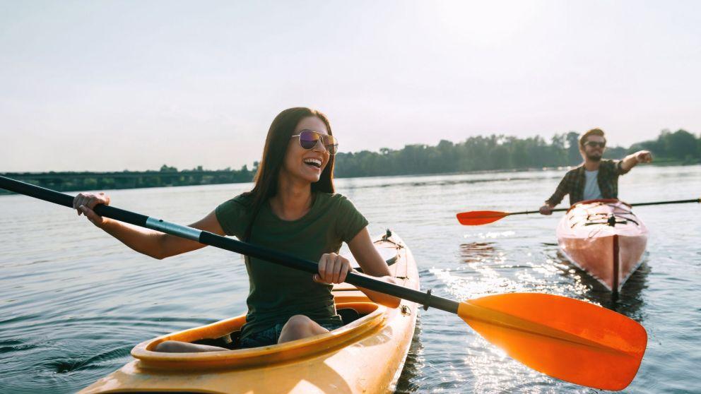 Todos los pasos para remar en kayak