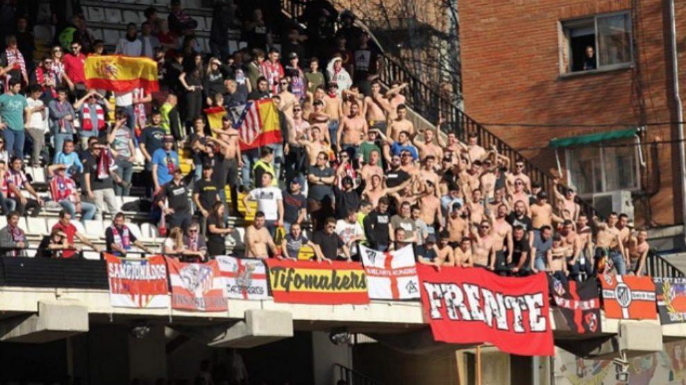 Competición abre expediente al Rayo por la exhibición de banderas racistas y xenófobas en el Rayo – Atlético. (Europa Press)