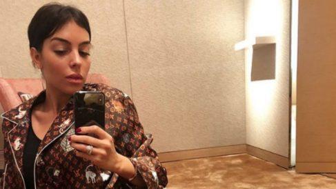Georgina subió una foto en pijama a Instagram. (Instagram)