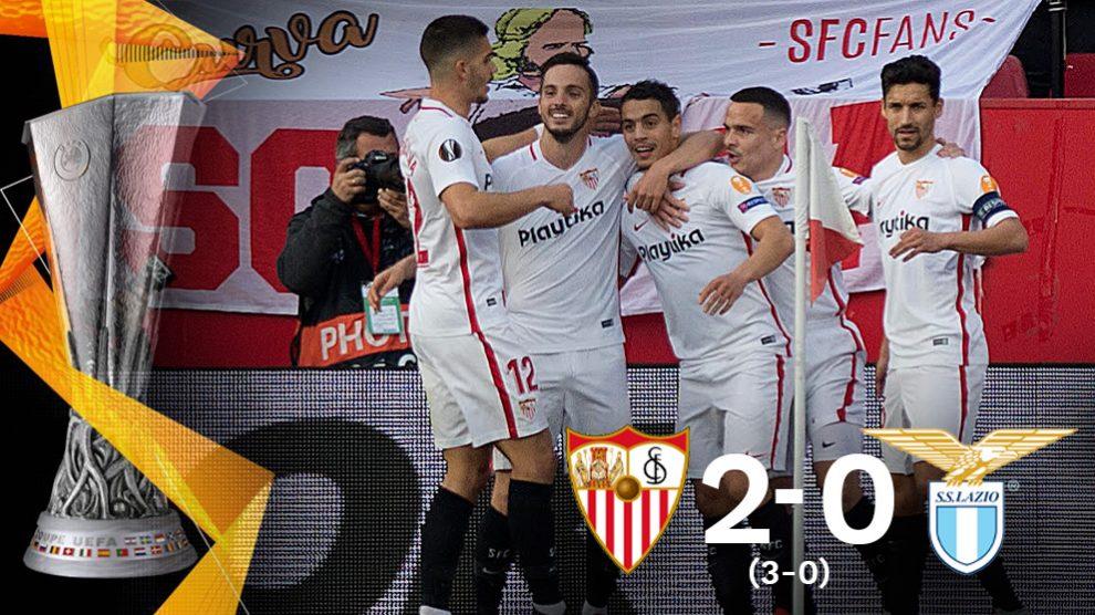 El Sevilla gana a la Lazio en la Europa League. (AFP)