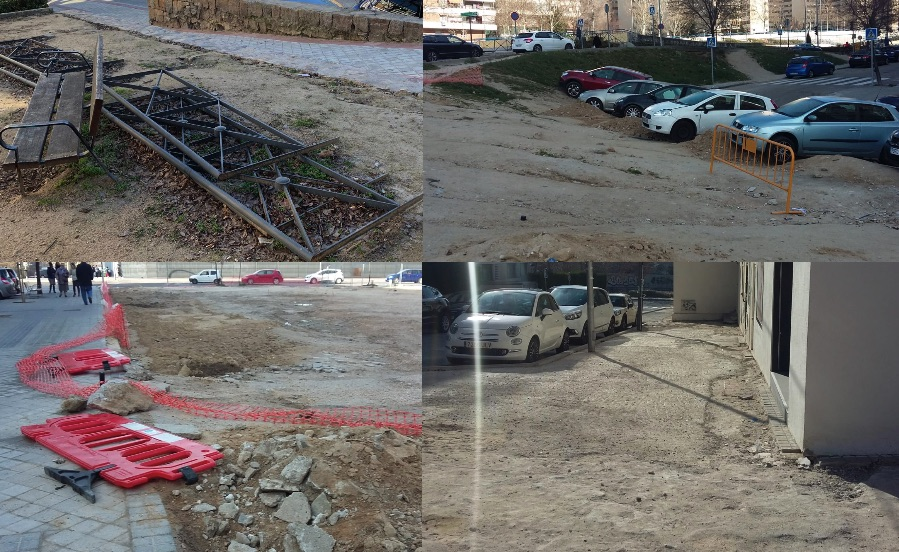 Carmena deja obras a medio terminar en Fuencarral poniendo en riego de caídas a los vecinos