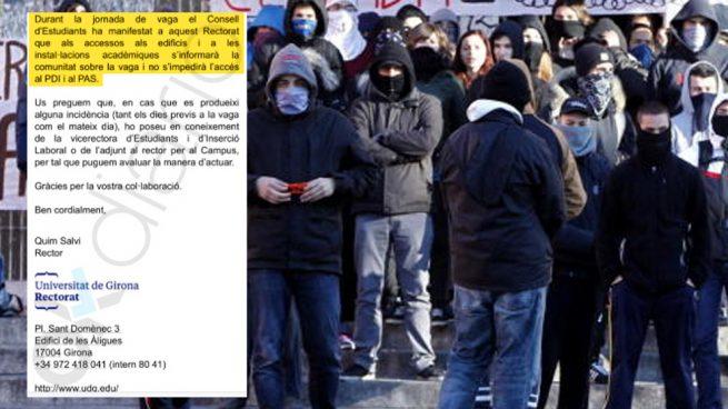 La Universidad de Gerona no garantizará la entrada a los alumnos contrarios a la huelga separatista
