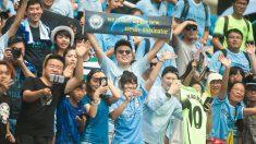 Aficionados chinos del Manchester City. (Getty)