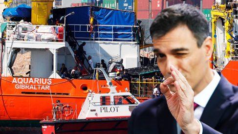 Pedro Sánchez y los refugiados del Aquarius.