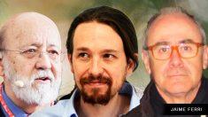José Félix Tezanos, Pablo Iglesias y Jaime Ferri.