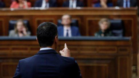 El presidente del Gobierno, Pedro Sánchez, en el Congreso. Foto: EFE