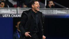 Simeone, durante un partido. (AFP)