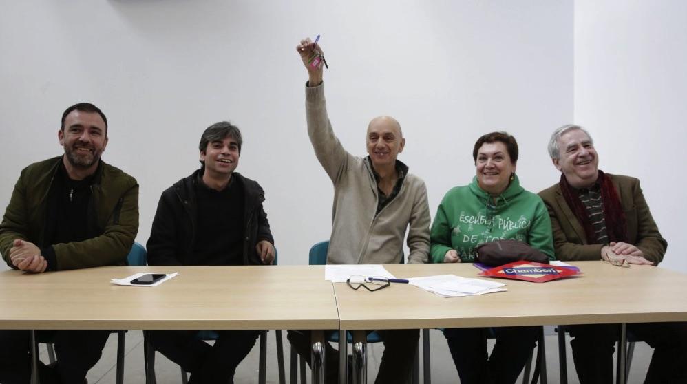 Acto de entrega de llaves a personas de Ahora Madrid. (Foto. Madrid)